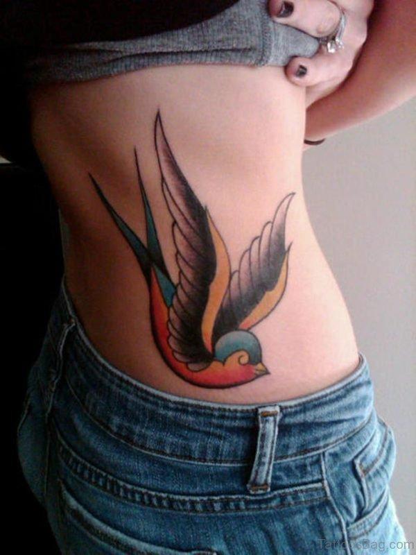 Sparrow Tattoo For Waist