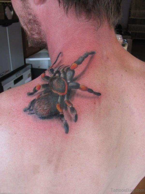 Spider Tattoo Design On Back