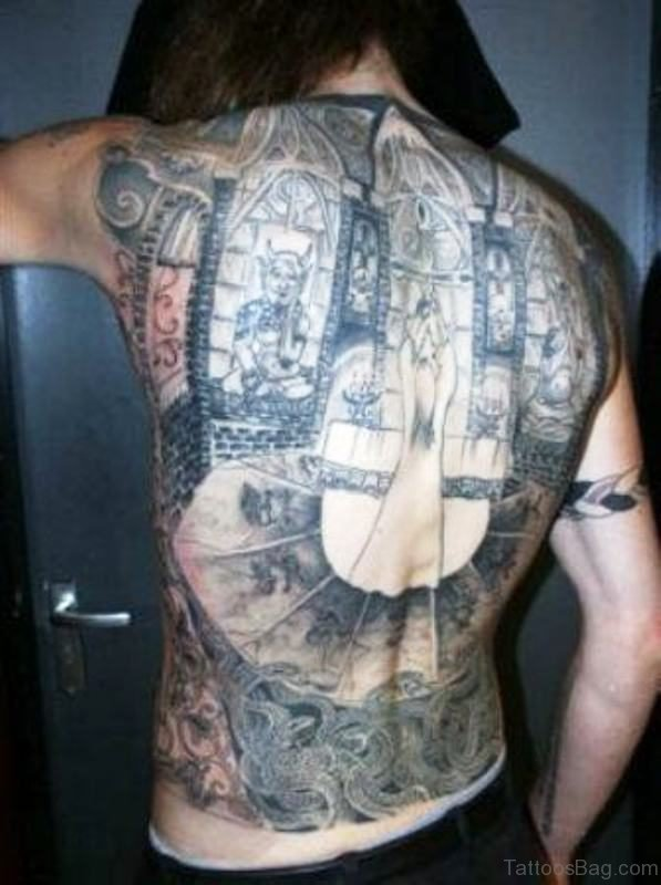 Spine Tattoo On Back