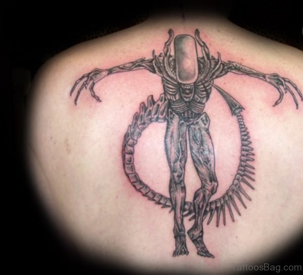 Standing Alien Tattoo