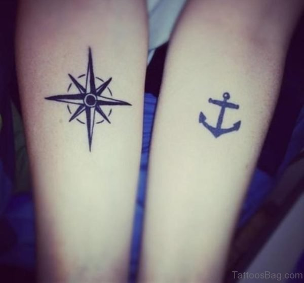 Star And Anchor Tattoo
