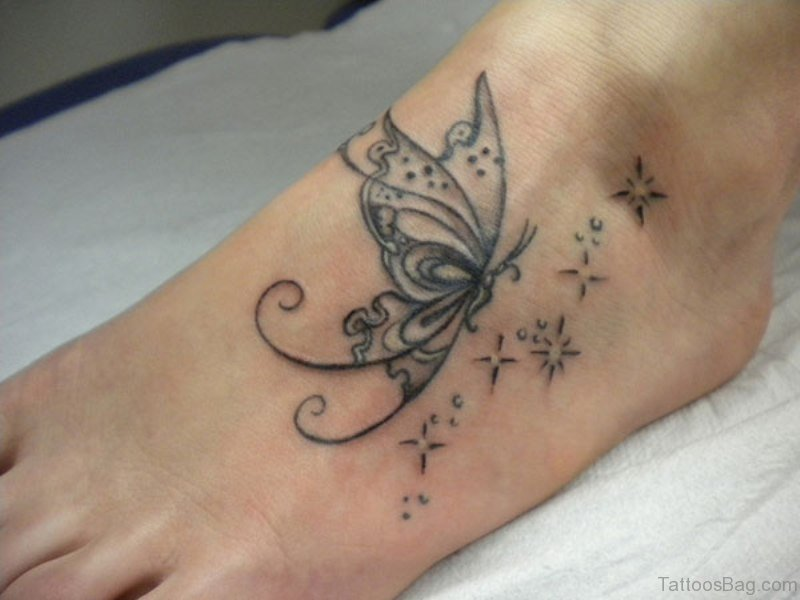 8329da46b 84 Cute Star Tattoo On Foot