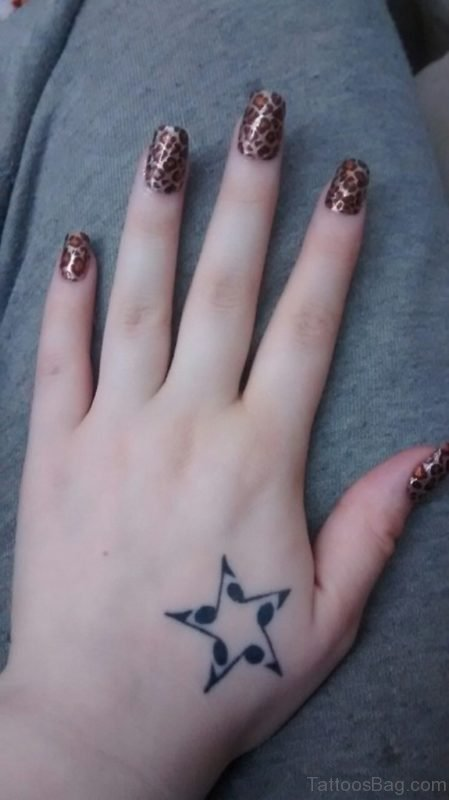 Star Tattoo Design On Hand