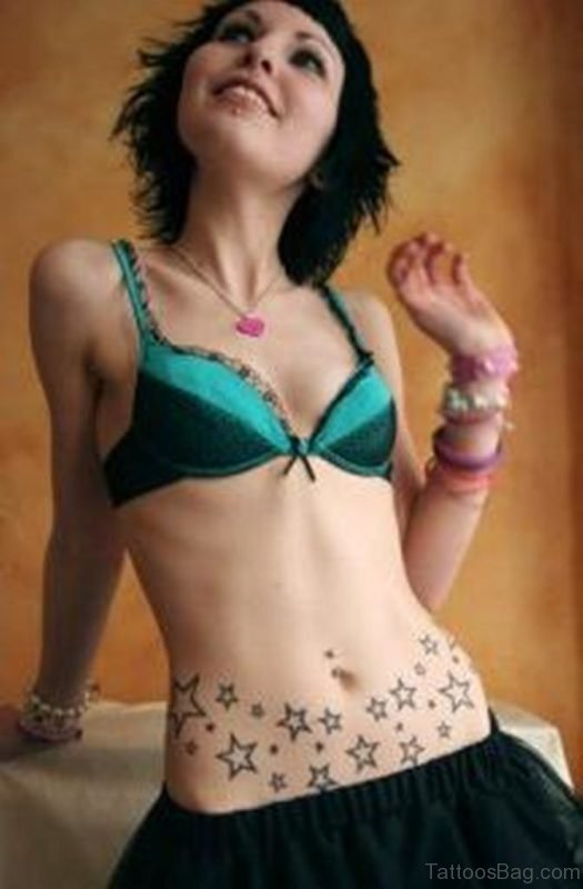 Star Tattoo Designs For Girls On Hip