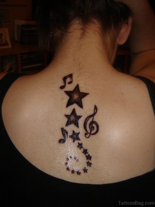 Star Tattoo On Back