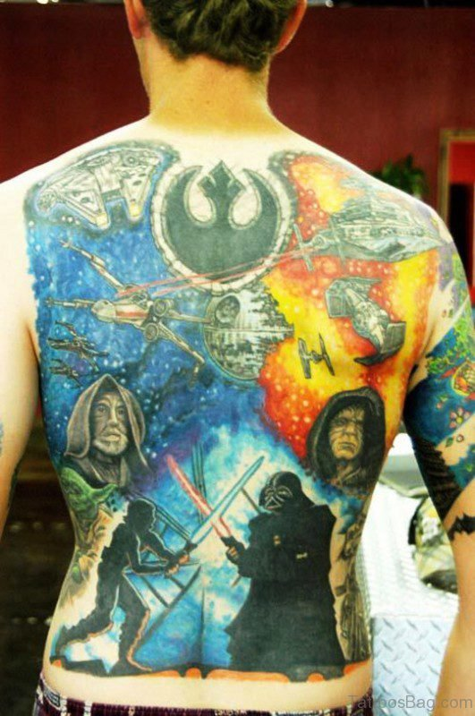 Star Wars Tattoo On Back