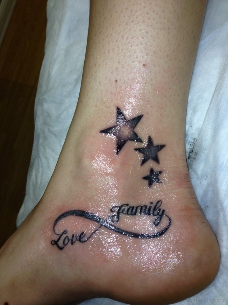 40 Sweet Infinity Tattoos On Ankle