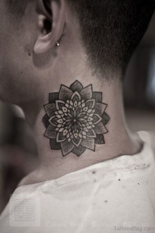 Stunnig Mandala Neck Tattoo