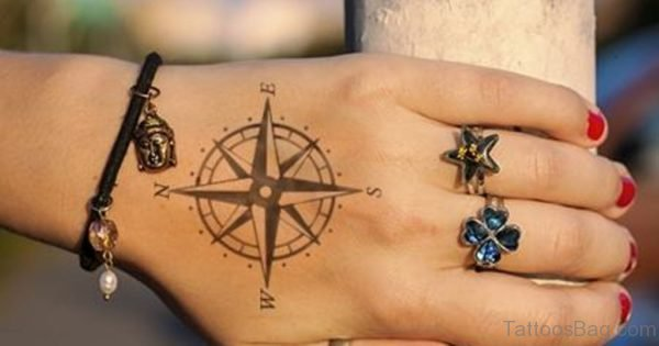 Stunning Compass Tattoo