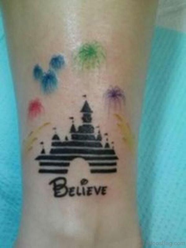 Stunning Disney Castle Tattoo On Wrist
