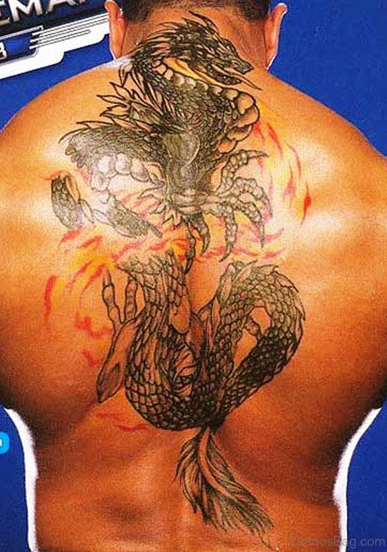 Stunning Dragon Tattoo On Back