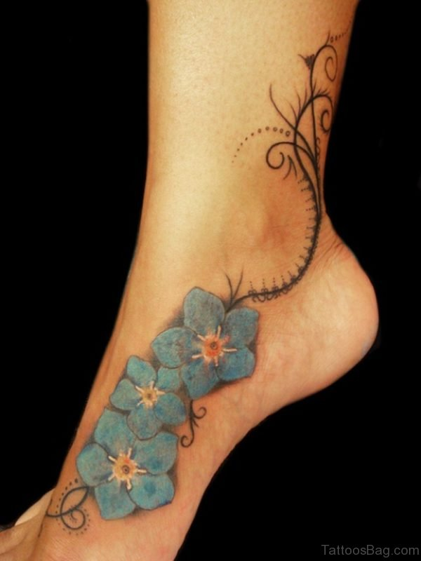 Stunning Effects Tattoo On Ankle