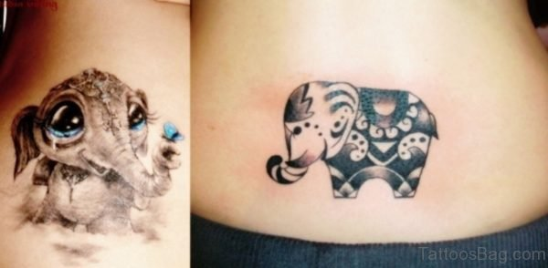 Stunning Elephant Tattoo On Back