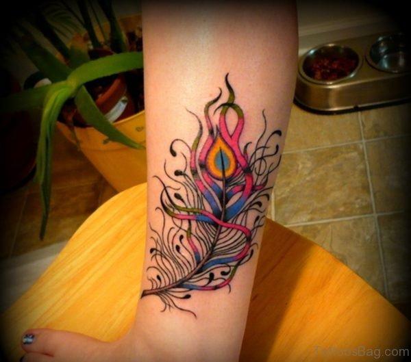Stunning Feather Tattoo