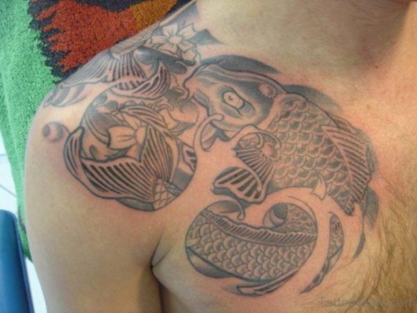 Stunning Grey Ink Japanes Tattoo