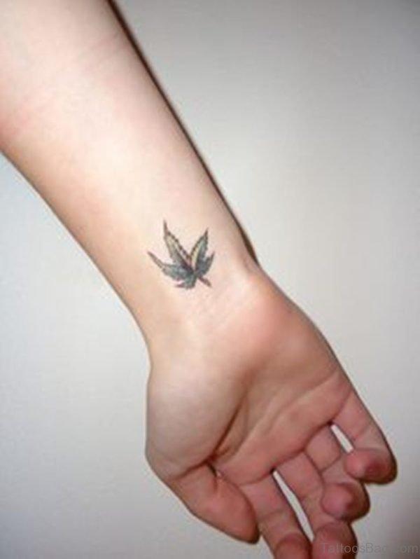 Stunning Maple Leaf Tattoo On Wrist