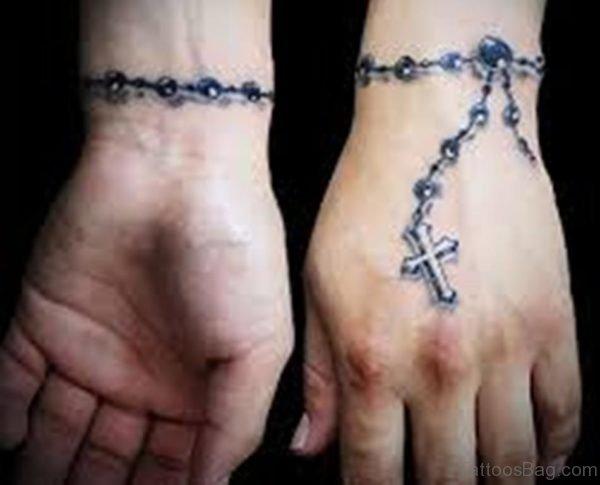 Stunning Rosary Tattoo