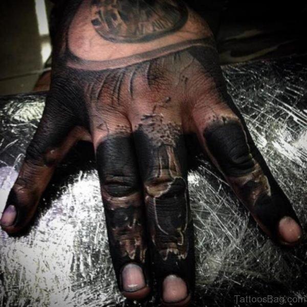 Stunning Skull Tattoo On Hand