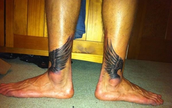 Stunning Wings Tattoo On Ankle