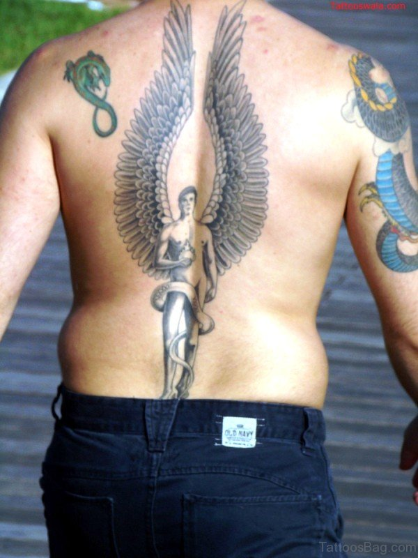 Stupendous Angel Tattoo On Back