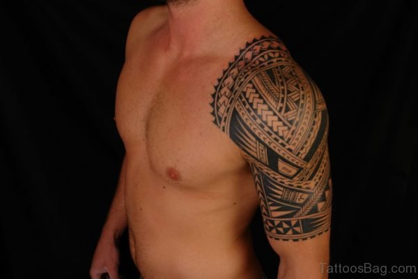 Stylish African Shoulder Tattoo