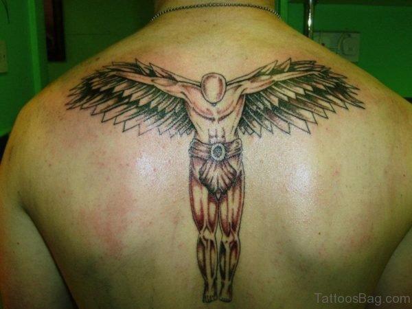 Stylish Angle Tattoo On Back