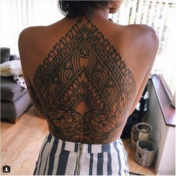 Stylish Back Tattoo