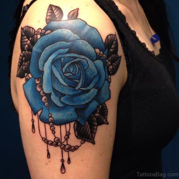 Blue Butterfly Tattoo Wrist