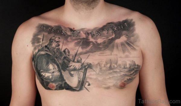 Stylish Chest Tattoo
