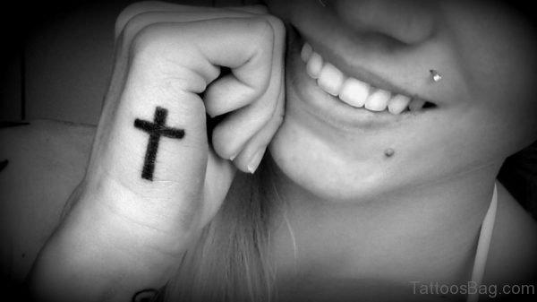 Stylish Cross Tattoo