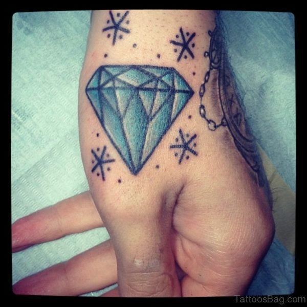 Stylish Diamond Tattoo