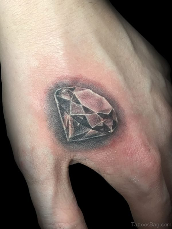 Stylish Diamond Tattoo On hand