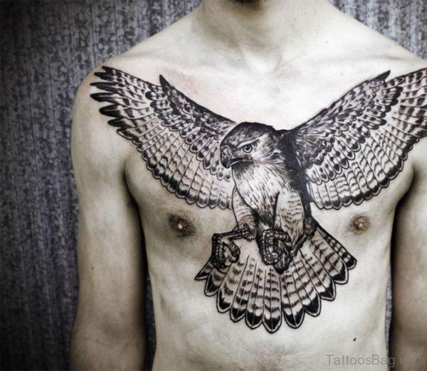 Nice  Eagle Tattoo On Chest