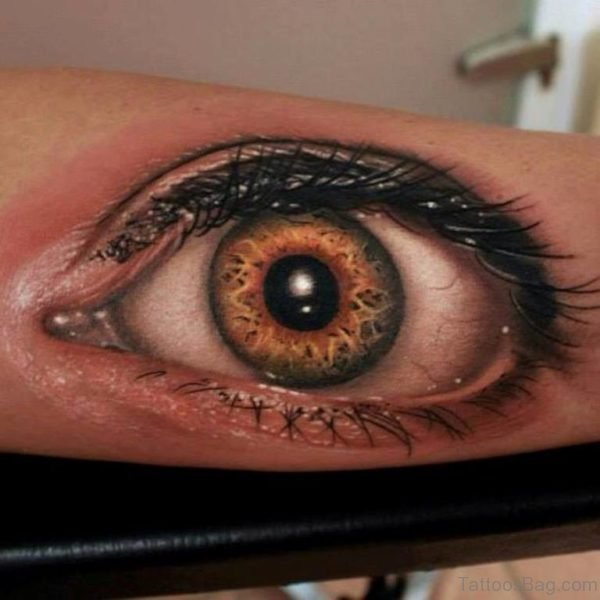 Stylish Eye Tattoo On Arm