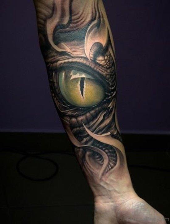 Stylish Eye Tattoo On Arm
