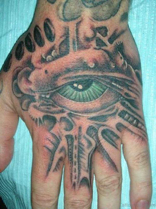 Stylish Eye Tattoo On hand