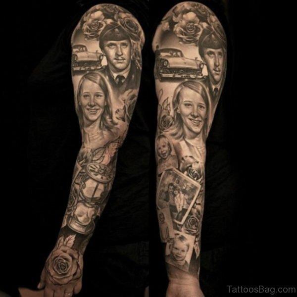 Stunning Full Sleeve Tattoo