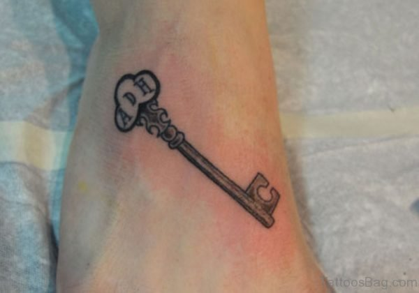 Stylish Key Tattoo
