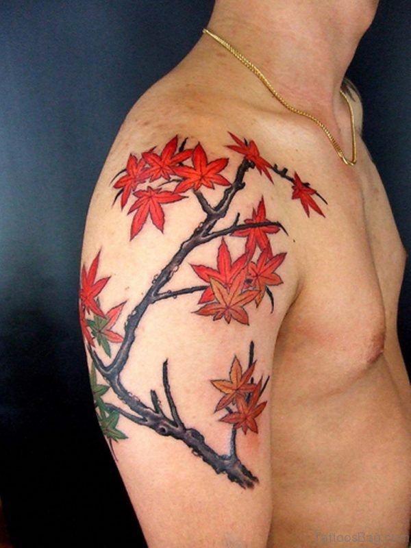Stylish Leaf Tattoo