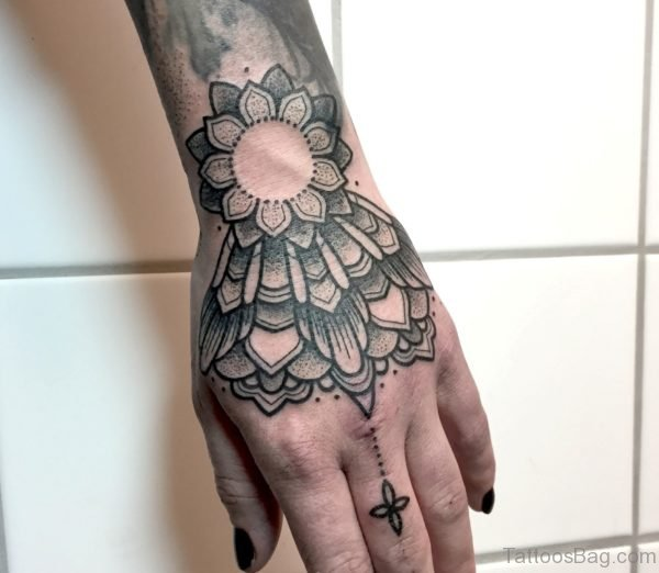 Stylish Mandala Tattoo On Hand