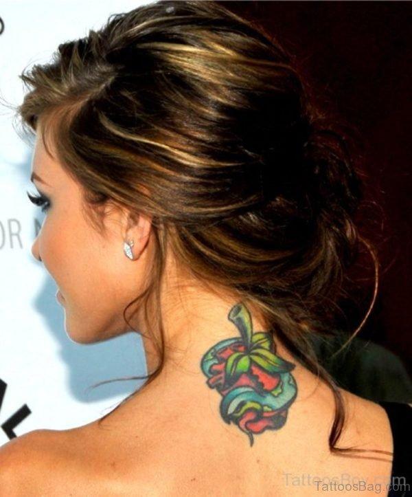 Stylish Nape Tattoo