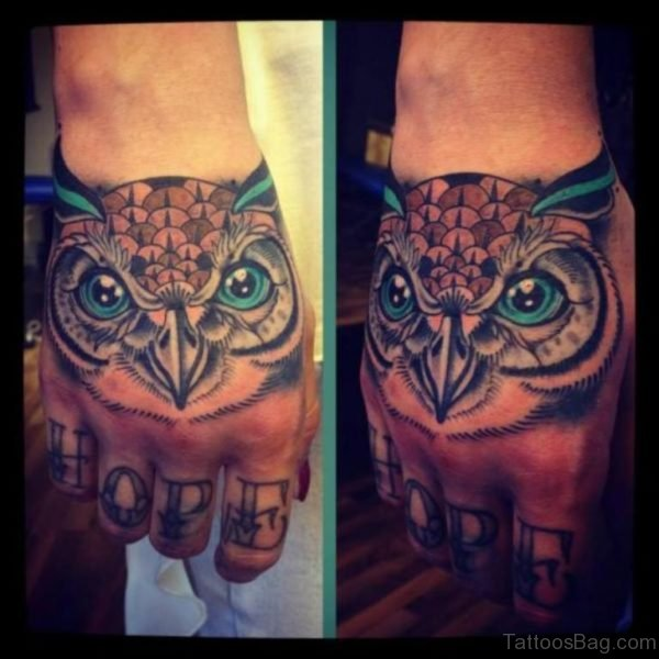 Stylish Owl Tattoo Design