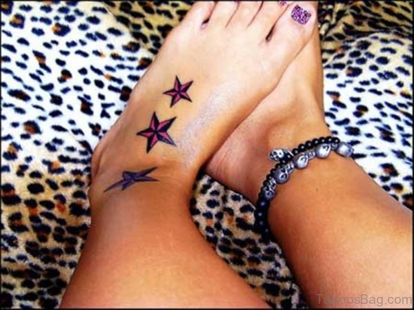 Stylish Three Star Tattoo