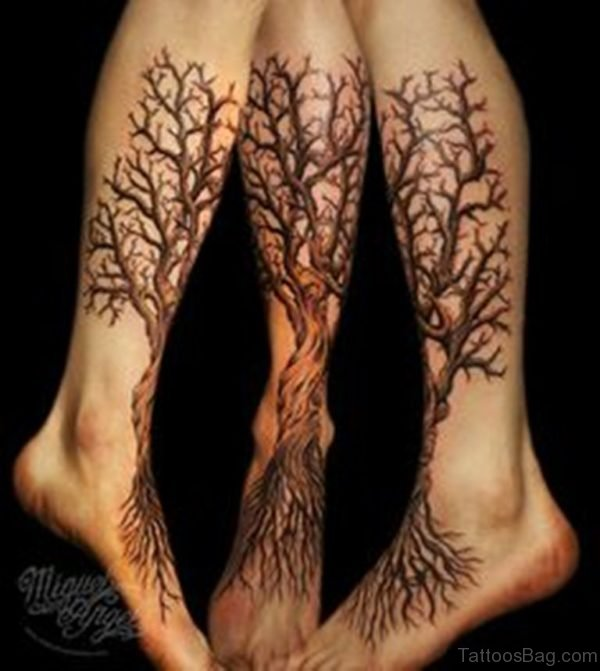 Stylish Tree Tattoo