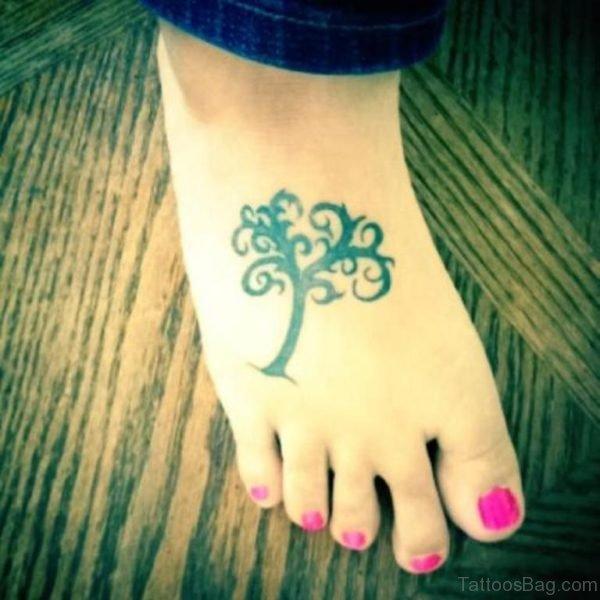Stylish Tree Tattoo