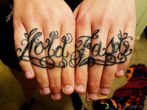 Stylish Wording Tattoo