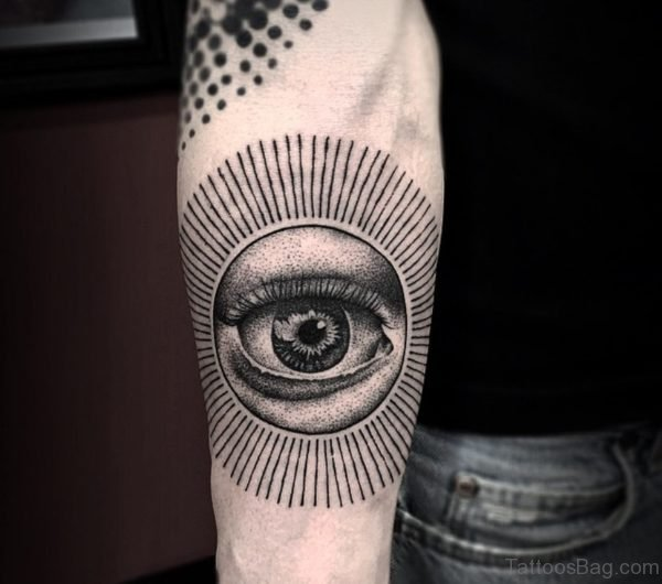 Sun Eye Tattoo