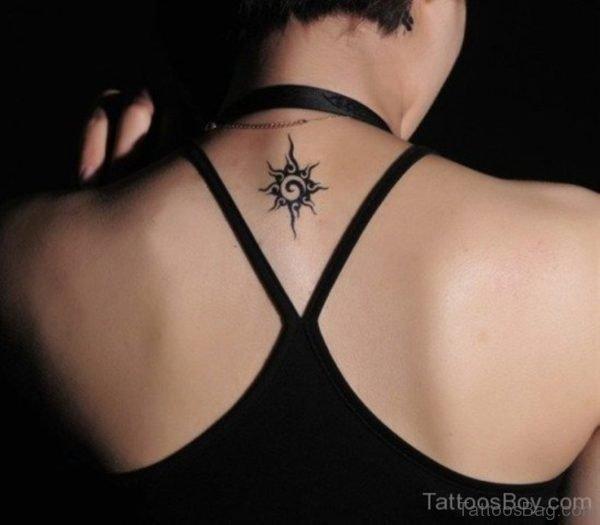 Sun Tattoo Design On Nape