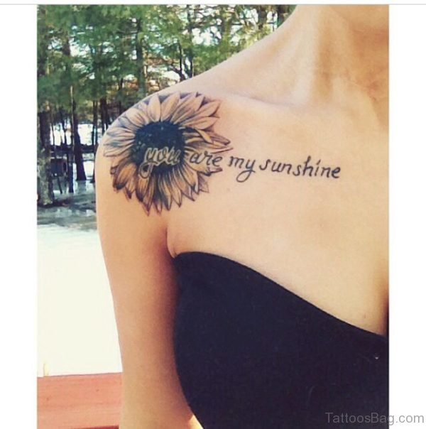 Sunflower Tattoo On Chest