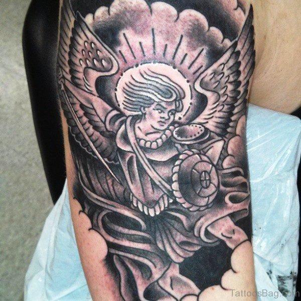 Superb Archangel Tattoo On Shoulder